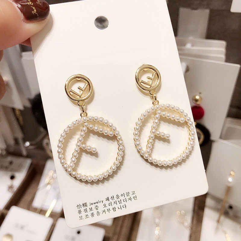 New Trendy Women Earring 2019 Korean Circle Drop Earrings Elegant Alloy Dangle Earring For Women Gifts Fashion Statement Jewelry