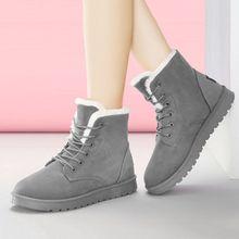 Plus Size 43 Women Boots Snow Boots Female Winter Women Shoes Suede Warm Fur Ankle Boots For Women Winter Shoes Lace Up Footwear