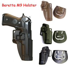 Tactical CQC Left/Right Hand Beretta M9 M92 M96 Holster Gun Case Airsoft Pistol Waist Paddle Hunting Accessories