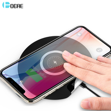 DCAE 10W Fast Wireless Charger for IPhone X XR XS Max 8 Plus Qi Quick Charge for Samsung Note 9 8 S8 S9 S10 Xiaomi Charging Pad цена