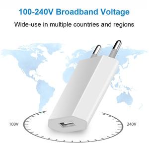 Image 3 - 뜨거운 판매 고품질 유럽 EU 플러그 USB AC 여행 벽 충전 충전기 전원 어댑터 애플 아이폰 6 6S 5 5S 4 4S 3GS