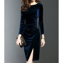 Золотое бархатное платье женское винтажное платья в китайском
