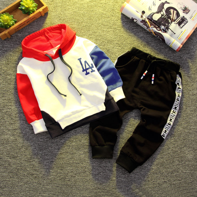 BibiCola Baby Boys Spring Autumn Clothing Set Infant Hoodies Newborn Babies Striped Sweatshirt Bebe Casual Outfit For Boy