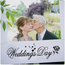 Wedding Day Photo Frame DIY Props Lovely Creative Booth Favors Anniversary/Wedding Decoration Party Supplies