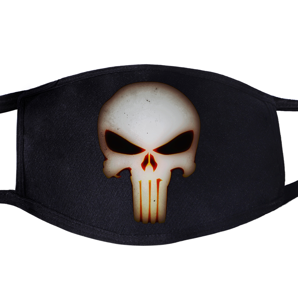 Skull Hip Hop Swag Cool Face Mask Mouth Fabric Anti Dust Unisex Black Muffle Dustproof Facial  Cover Masks