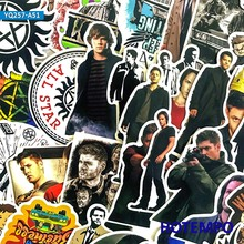 50pcs Supernatural SPN Sticker for DIY Mobile Phone Laptop Luggage Suitcase Skateboard Fixed Gear Decal Stickers