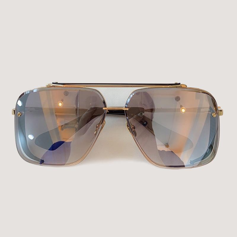 Мужские солнцезащитные очки модные квадратные солнцезащитные очки Oculos De Sol брендовые дизайнерские женские оттенки - 4
