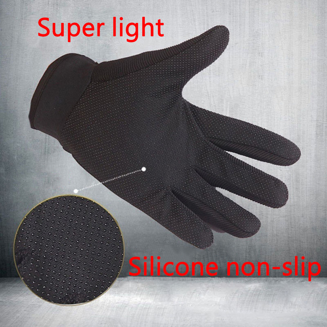 Summer Outdoor Sports Cycling Gloves Men's Non-Slip Silicone Glove Bicycle Windproof Full Finger Gloves For Fishing 5
