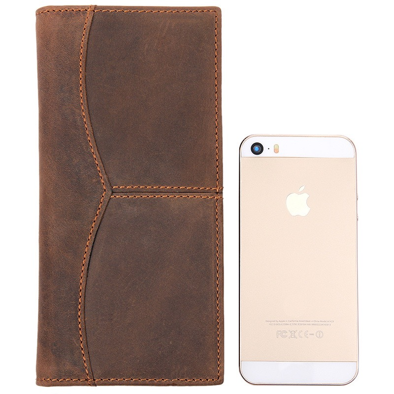 Solid Leather Passport Holder Identification Cover  Passport Case