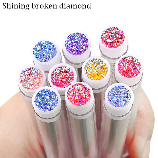 NEW Eyelash Extender Disposable Eyebrow Brush Separate Tube Design Charming Diamond Bottom Mascara Stick Applicator 3