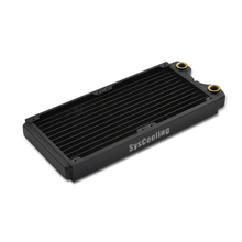 Syscooling copper heat radiator black color 240 mm  water cooling radiator for CPU GPU syscooling sc cs23 watercooling kit cpu block gpu block northbridge block pump 240 water radiator