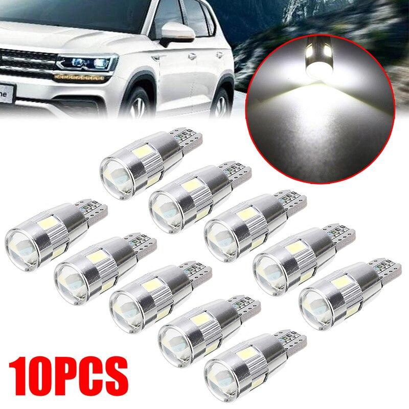 10 piezas de alta calidad T10 5630 bombilla blanca fría 6 SMD LED - Luces del coche