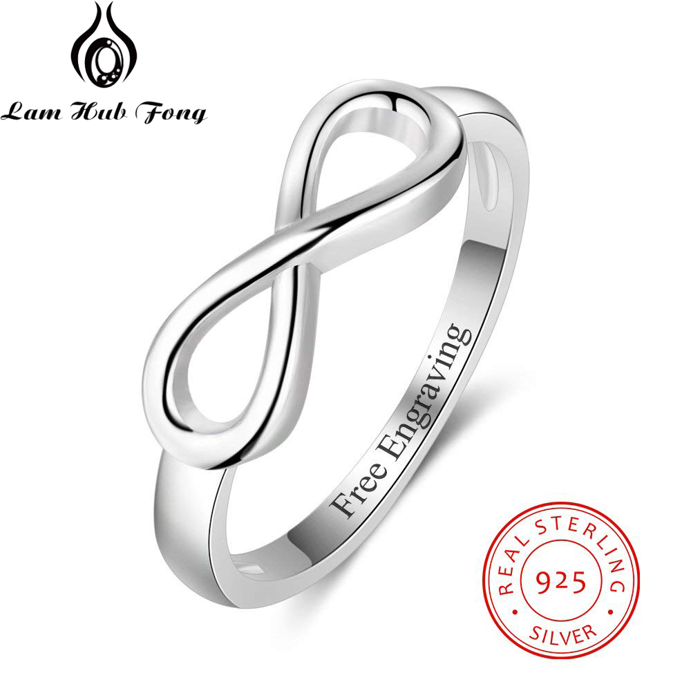 Personalized Ring 925 Sterling Silver  Custom Name Infinity Love Wedding Gift Forever Ring For Women Fine Jewelry(Lam Hub Fong)