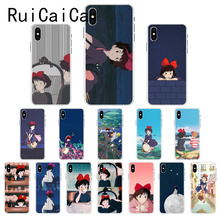 Ruicaica Cartoon Studio Ghibli Kiki's Delivery Service Phone Case for iPhone X XS MAX  6 6s 7 7plus 8 8Plus 5 5S SE XR 10 ruicaica marvel avengers widow hulk iron man spider man film phone case for iphone x xs max 6 6s 7 7plus 8 8plus 5 5s se xr 10
