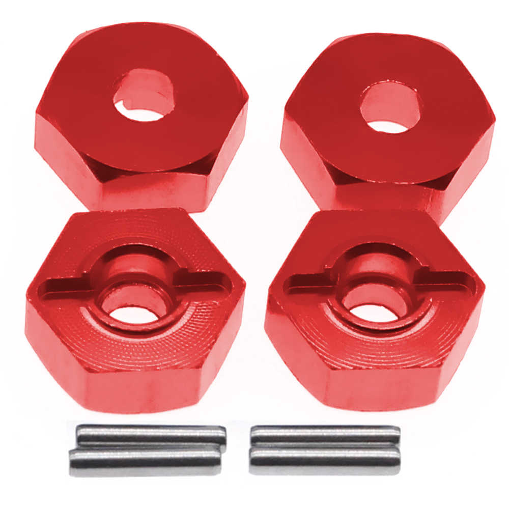 4 шт обработанный сплав 12 мм колеса шестигранный концентратор адаптер 5 мм толщиной для ECX 1-12 Barrage 1-18 Temper частей