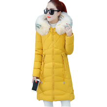 Winter Fur collar Thick Warm Down cotton Jackets Women Casua