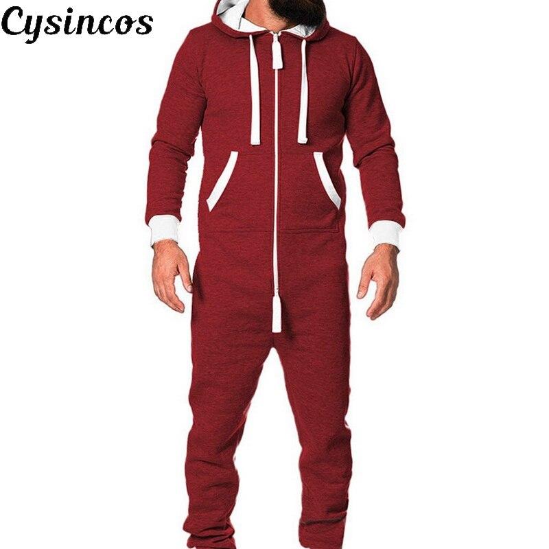 CYSINCOS 2020 Adults Unisex  Pyjamas Mens Women One Piece Cotton Pajamas Sleepwear  Sleepsuit Red/Blue Pajamas