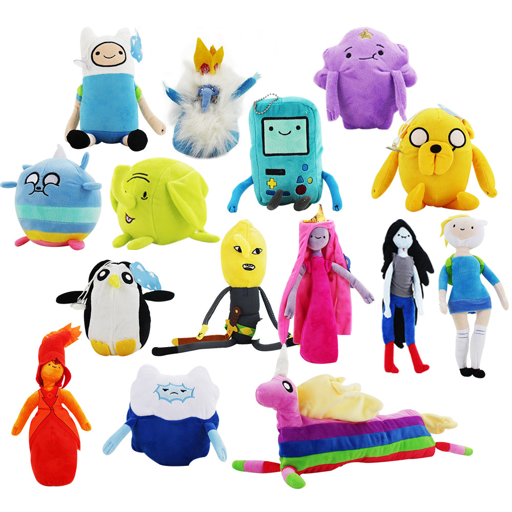 Big Promotion Cartoon Adventure Time Jake Plush Pendants Toy Finn Lumpy Space Princess LemongrabLady Rainicorn Doll Key Chain