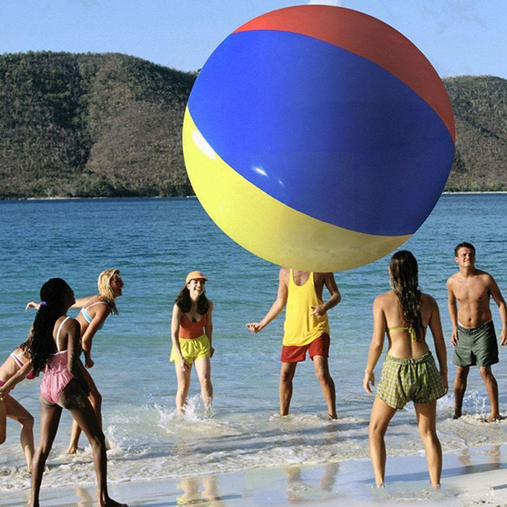 bola de praia inflavel grande tres cor pvc 04