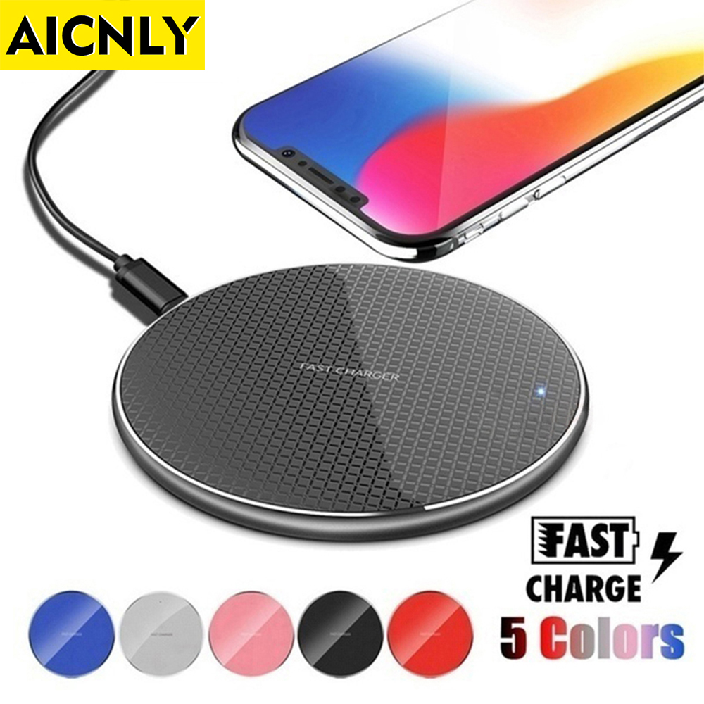AICNLY 10W Qi Wireless Charger iPhone K8 Wireless Charging Phone for Samsung Xiaomi Induction Charger Wireless Charging Pad(China)