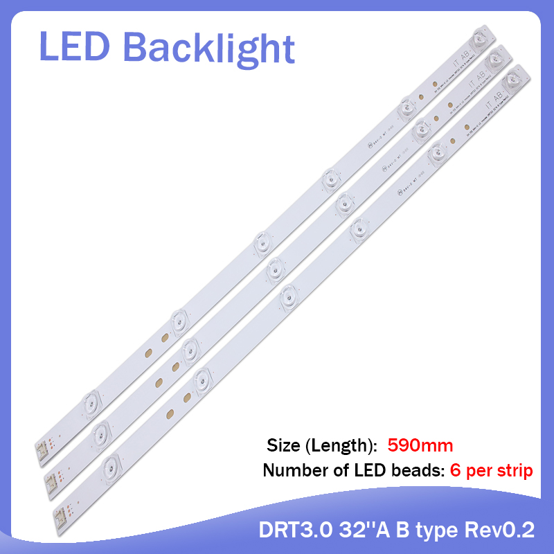 100%new 590mm LED Backlight 6lamp For LG 32
