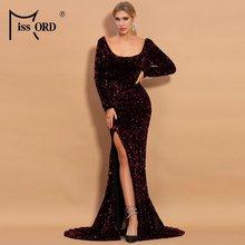 Missord 2021 весенне летние женские макси платья с длинными