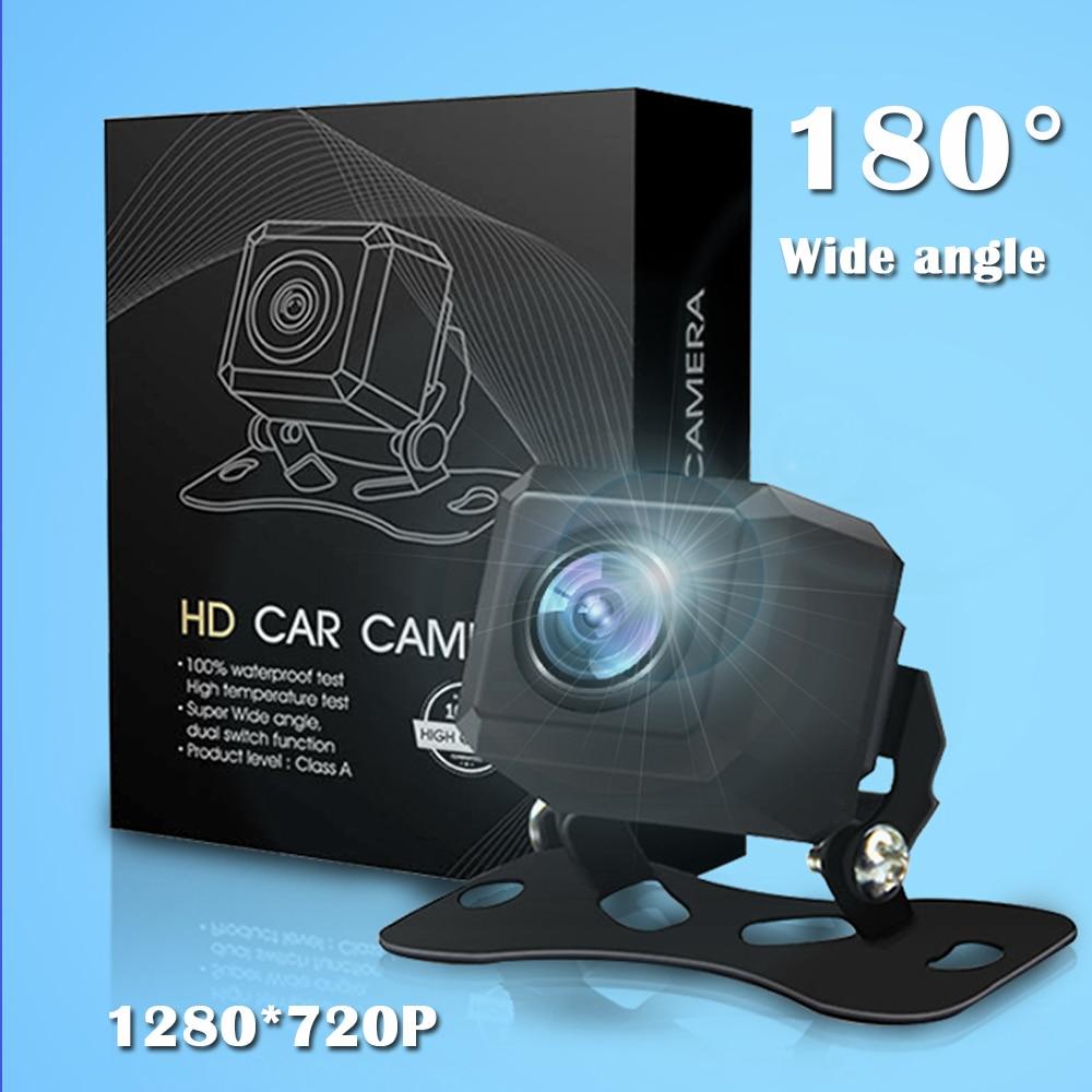 Carsanbo Auto Occhio di Pesce Lens 720P HD Videocamera Vista Posteriore 180 Gradi Grandangolare Impermeabile di Vista Frontale Dell'automobile Retromarcia Telecamere Per tutte le Auto