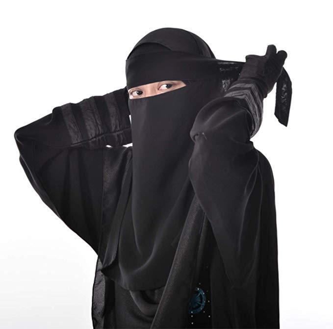 Мусульманский однослойный шарф Niqab Арабская молитвенная вуаль Рамадан шарф Ближний Восток Burka исламский женский головной убор хиджаб