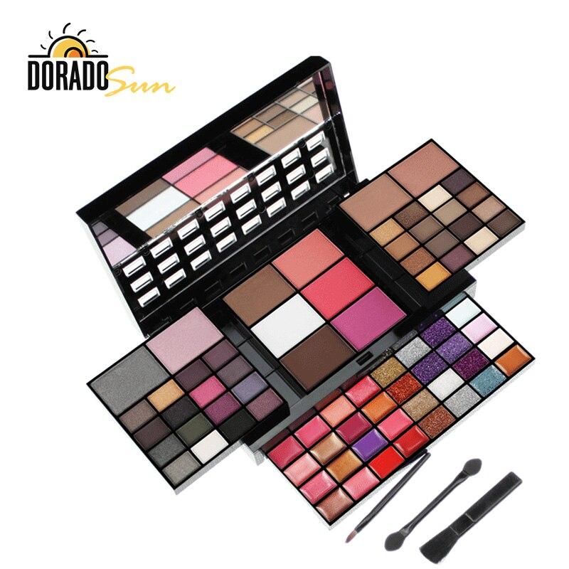 DORADOSUN Makeup Set Water-proof Eyeshadow Pallete Professional Lip Gloss Kits Blush Foundation Make-up Eye Glitters
