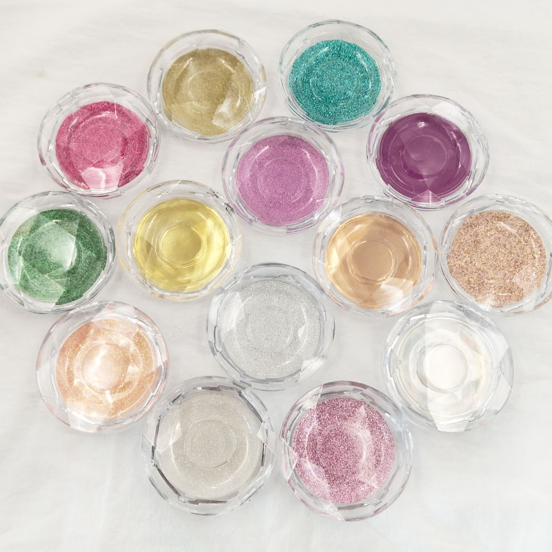 NEW 10/20/50pcs Crystal-lid Plastic Case for Lashes Clear Silver Gold Water green Pink New Popular Packaging for Eyelashes(China)