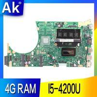 AK S551LA 노트북 마더 보드 ASUS S551LA S551LB S551LN S551L R553L S551 테스트 오리지널 메인 보드 4G RAM I5-4200U