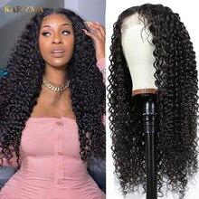 Peruca encaracolada do cabelo humano 180% densidade afro kinky encaracolado peruca dianteira do laço 13x6 perucas de cabelo humano hd peruca frontal do laço transparente para mulher
