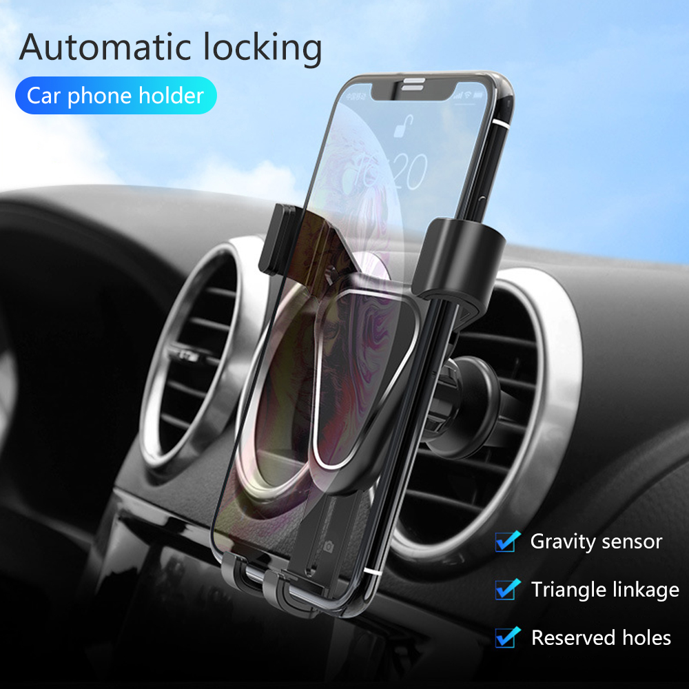 FLOVEME Auto Lock Gravity Car Phone Holder For Phone In Car Air Vent Clip Mount Mobile Cell Phone Holder Stand For IPhone X 7 6