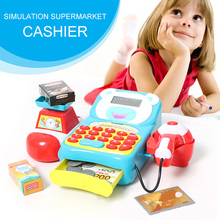 Children'S Play House Toy Checkout Counter Simulation Supermarket Cash Register Toy Card Machine Set Bab mini portable counter machine multi paper currency handy cash money counter counting machine equipment