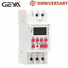 цена на GEYA THC-15 Time Switch Weekly Programmable DIN Rail LCD Digital Timer Switch 16A ACDC 12V 24V 110V 220V 240V