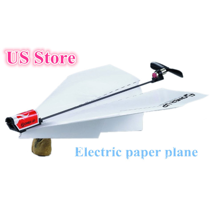 HINST Children's Toys Novelty Toys Power Up Electric Paper Plane Airplane Conversion Kit Fashion Educational Toy