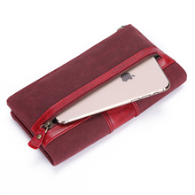 Bifold Women Leather Walllet Long Genuine Coin Purse Femle Large Water Proof Card Holder Wallet