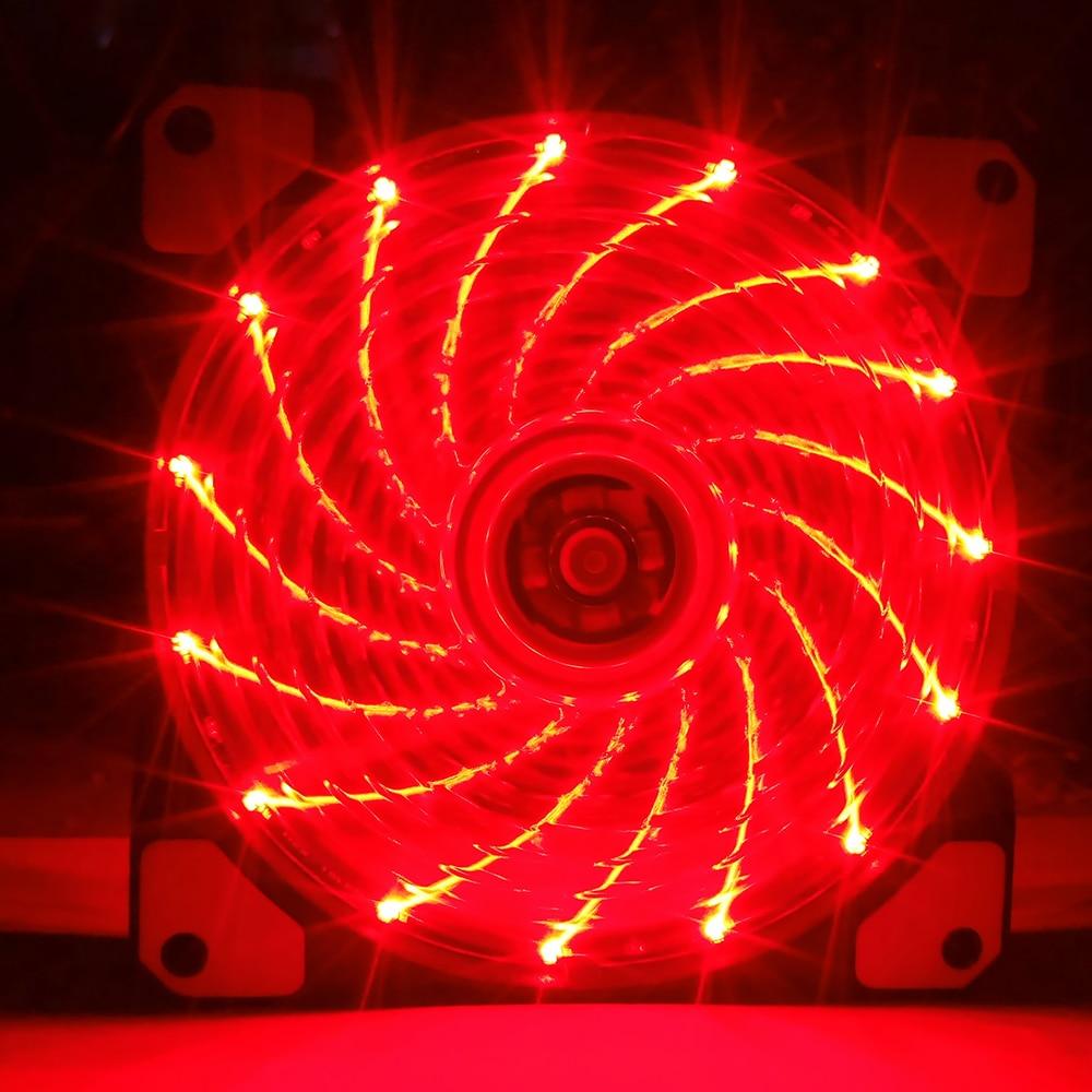 Free Screws 120mm PC Computer Ultra Silent LED Cooling Fan Radiator Radiator, 12CM Fan, 12VDC 3P IDE 4pin