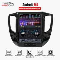 AuCAR tesla Android 9,0 multimedia radio del coche para Mitsubishi Triton L200 2016-2018 navegación GPS 1 din estéreo autoradio DVD