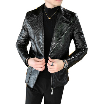 Men Motorcycle Vintage Rock & Roll Casual Leather Jacket Coat Men Autumn Design Biker  Pockets PU Leather Jackets Men M-2XL