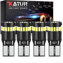 СВЕТОДИОДНЫЕ Лампы Canbus T10 W5W, 4 шт., 168, 194, без ошибок, внутренние купольные лампы 24SMD 3014, белые, 12 В для Audi, BMW, Benz