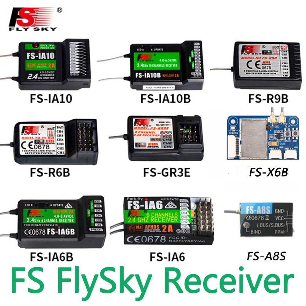 FlySky FS R6B FS GR3E FS IA10B IA6B X6B FS A8S receptor receptor para i6 i10 CT6B T6 TH9x transmisor de Controle remoto contraditório|Peças e Acessórios|   -