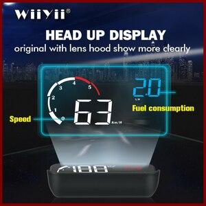 Image 1 - GEYIREN 3.5 OBDII voiture HUD OBD2 Port tête haute affichage M10 compteur de vitesse pare brise projecteur auto hud tête haute affichage a100 hud