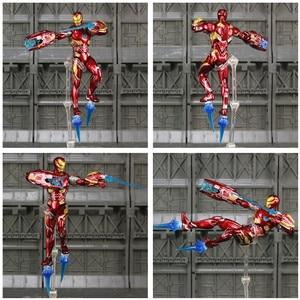 "Image 3 - Iron Man MK50 6 ""Action FIGURE Avenger IRONMAN NANO Mark 50 Infinity War Tony Stark Legends KOs SHF endgameของเล่นตุ๊กตา"
