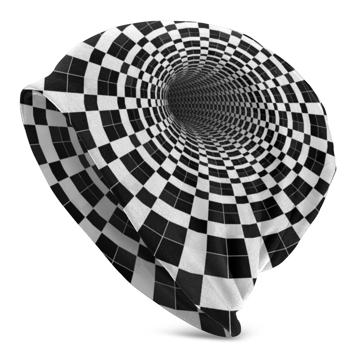 Protective Spiral Checker Black White Checkerboard Filter Mouth Face Towel Air Anti Dust Washable Head Scarf