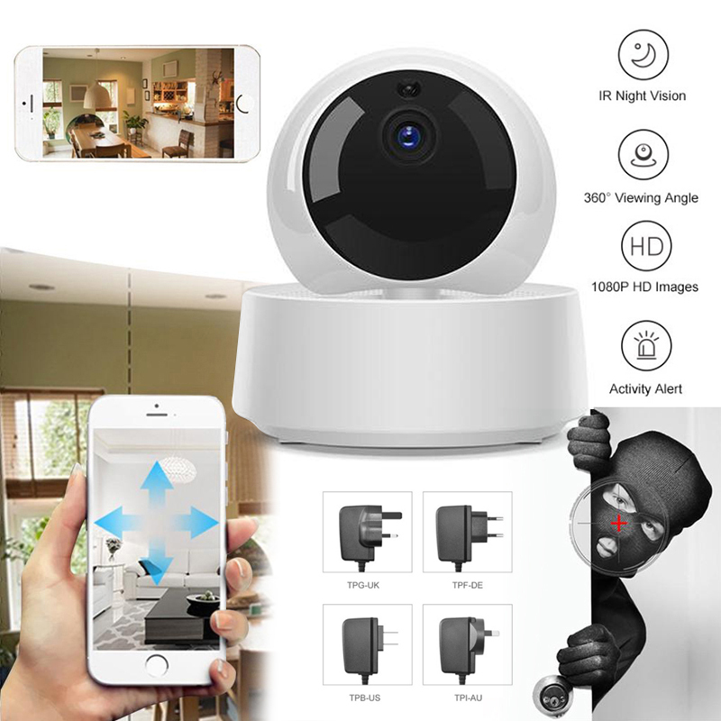 GK-200MP2-B Sonoff 1080P HD IP Security Camera WiFi Wireless APP Controled Motion Detective 360° Viewing Activity Alert Camera