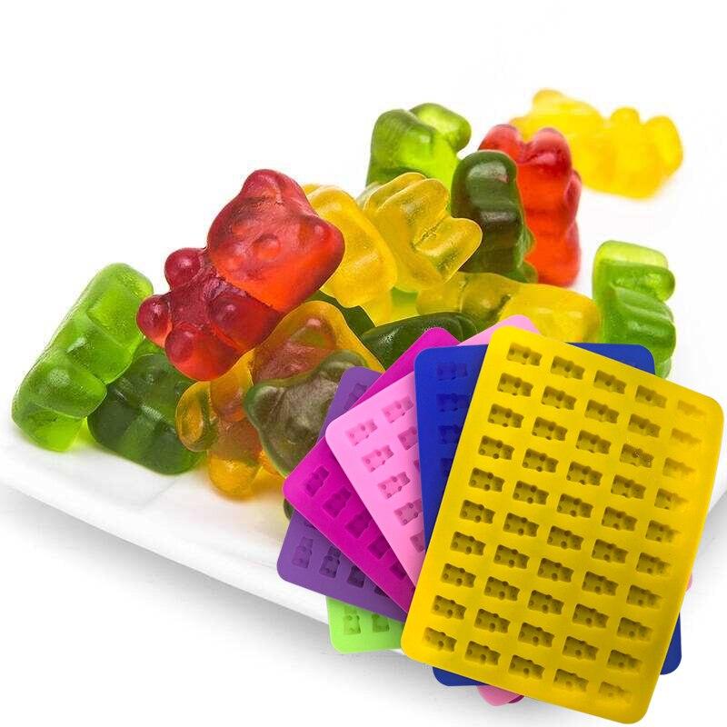 Формы для шоколада Gummy Bear, 50 Карпов, силиконовая форма для шоколада, 3D «сделай сам», устройство для изготовления конфет, антипригарные формы ...