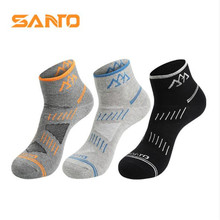 3 Pairs SANTO S019 Outdoor Cotton Socks Mens Sports Quick Dry Spring Summer Fit to Size 39-43