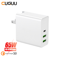 65W PD QC 3.0 Quck Charge USB Charger For Switch Macbook Type C Fast iPhone Samsung Xiaomi Wall Adapter