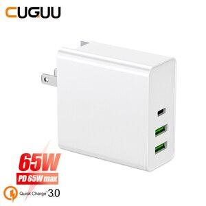 "Image 1 - 65W פ""ד מהיר מטען QC3.0 Quck מטען עבור מתג Macbook סוג C USB מטען עבור iPhone עבור סמסונג Xiaomi קיר מטענים מתאם"